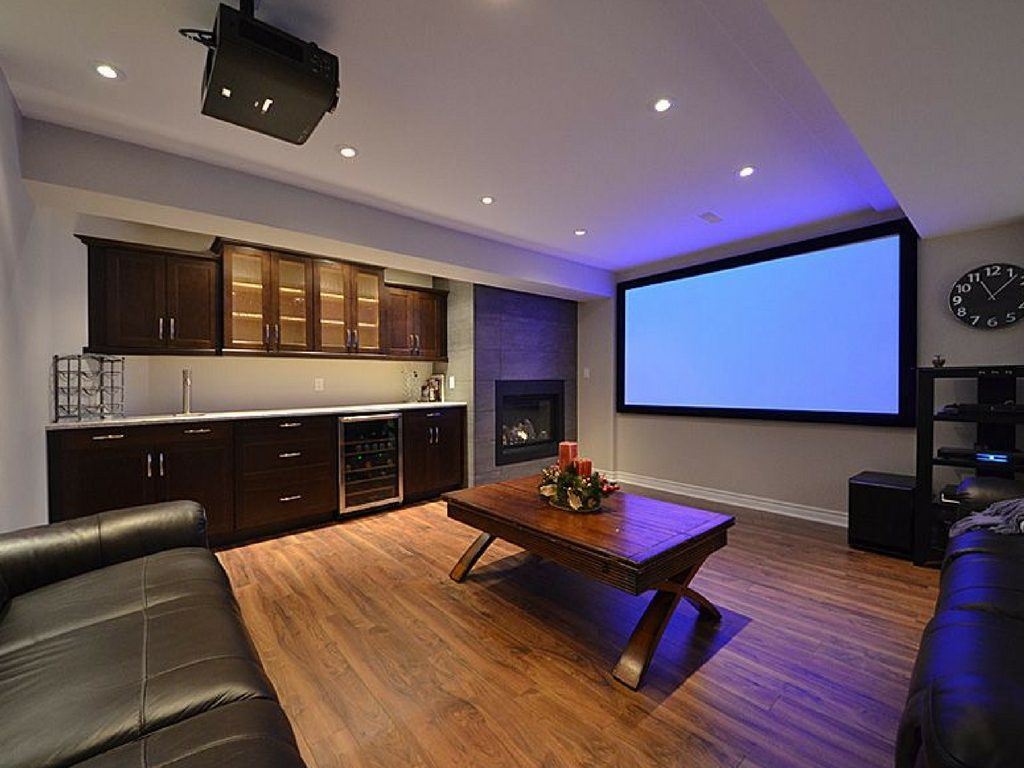 modern basement design st. louis