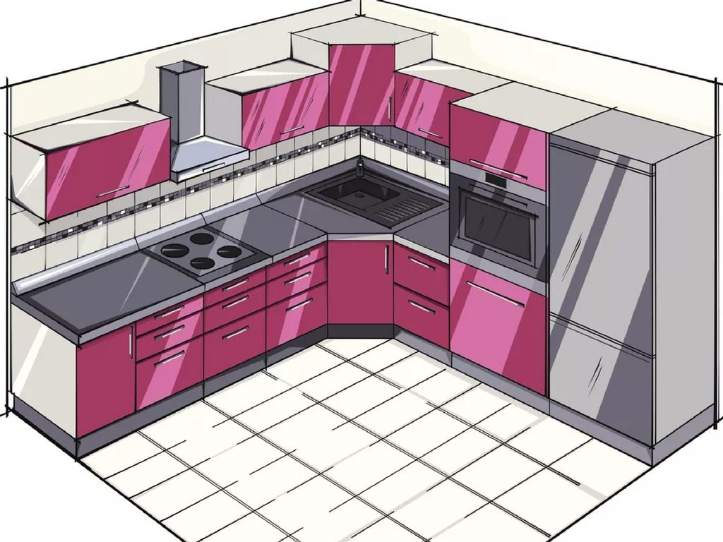small L shaped kitchen remodel st. louis