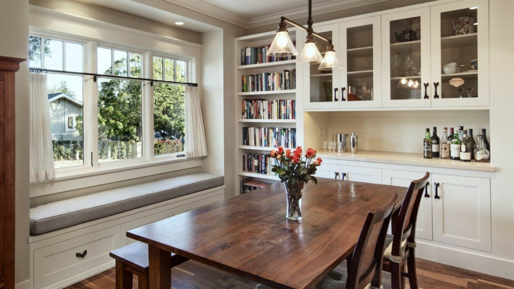 Built In Dining Room Storage, Dining Room Cabinets