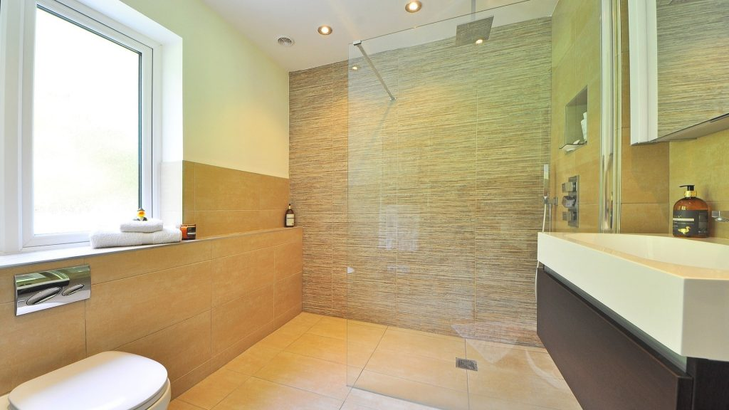 bathroom glass door design