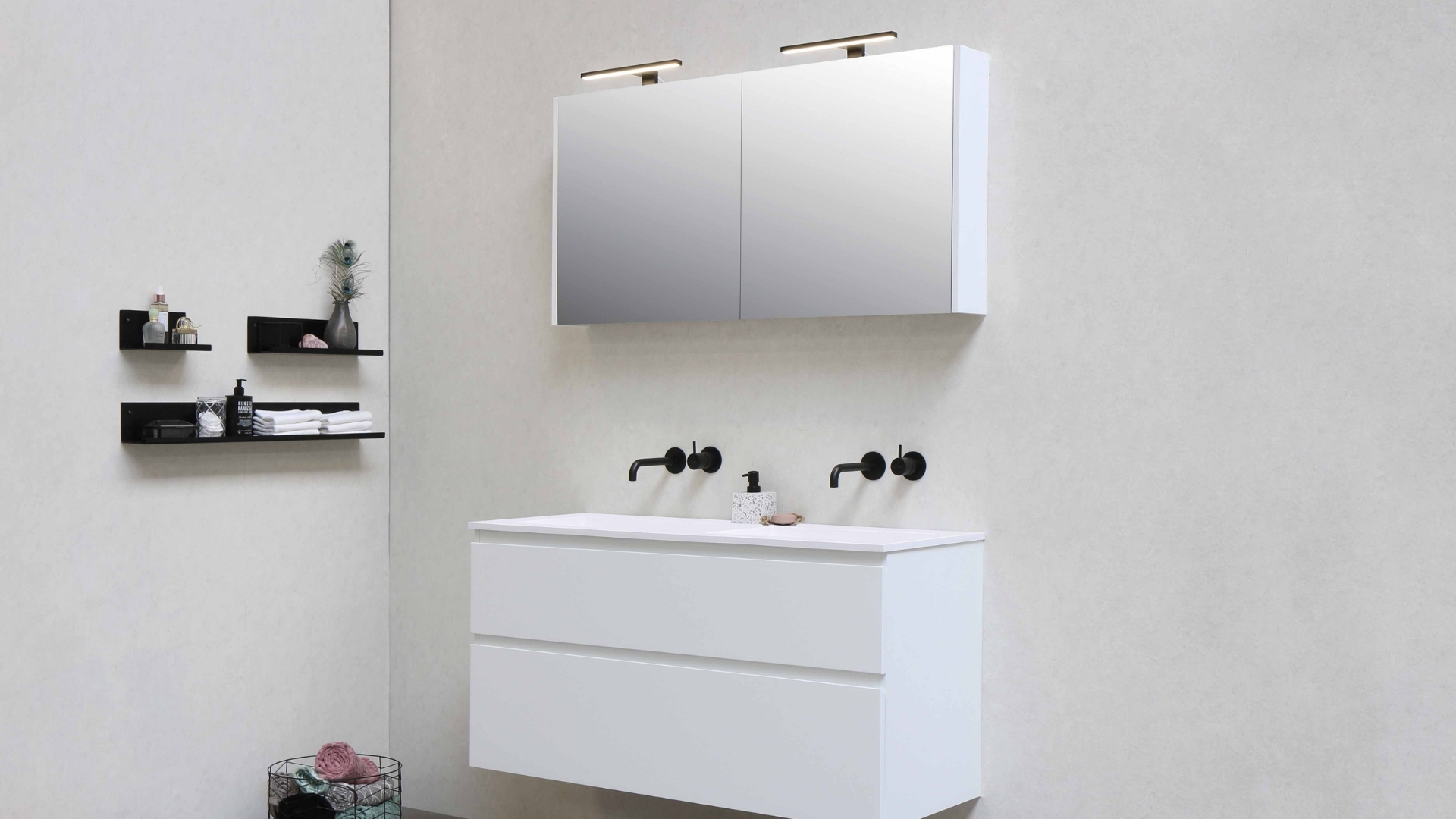 mcdermott remodeling bathroom wall shelf ideas